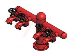 4 Way Pillar Hydrant with Bib Nose Valve