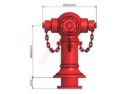 3 Way Non Controllable Pillar Hydrant
